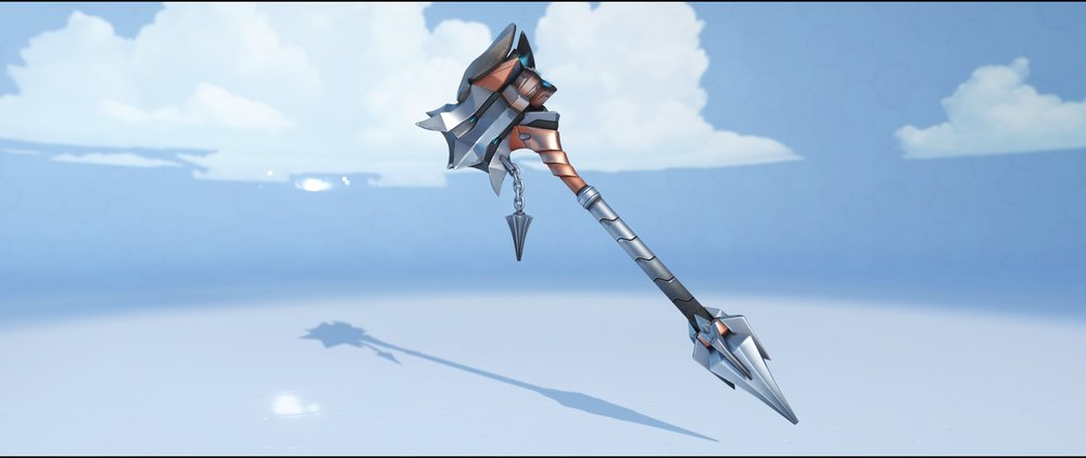 Crusader hammer front legendary skin Reinhardt Overwatch.jpg