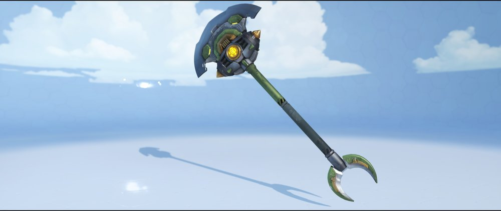 Wujing hammer front legendary Lunar New Year skin Reinhardt Overwatch.jpg