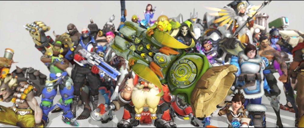 Forest Spirit gun front legendary Anniversary skin Orisa Overwatch.jpg