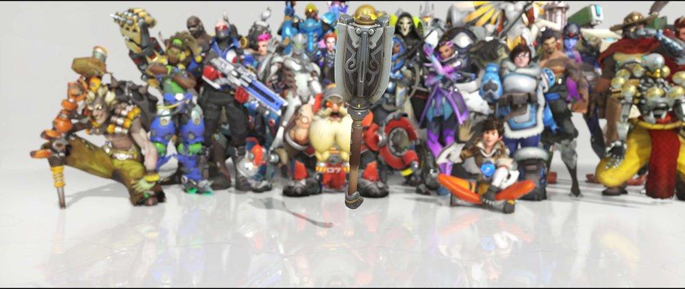 Shieldmaiden hammer legendary Anniversary skin Brigitte Overwatch.jpg
