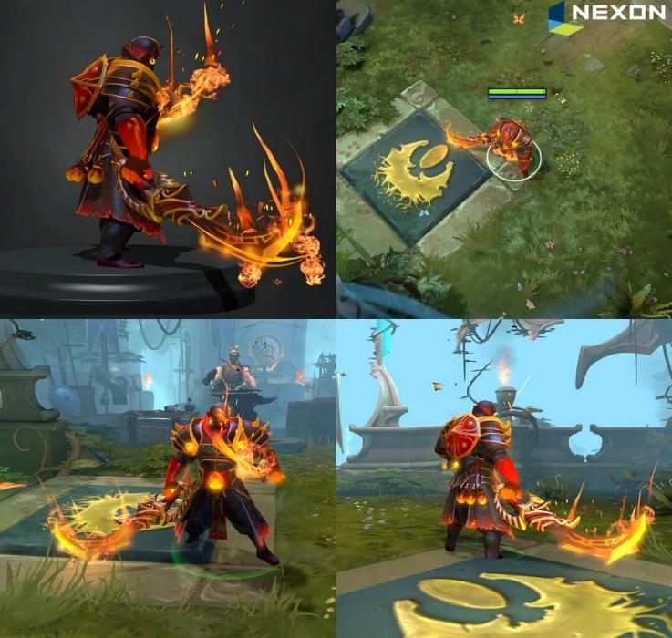 Imperial Flame Swords Pack Dota 2 Nexon
