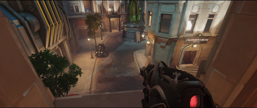 Second high ground area first point defense Widowmaker Kings Row Overwatch.jpg
