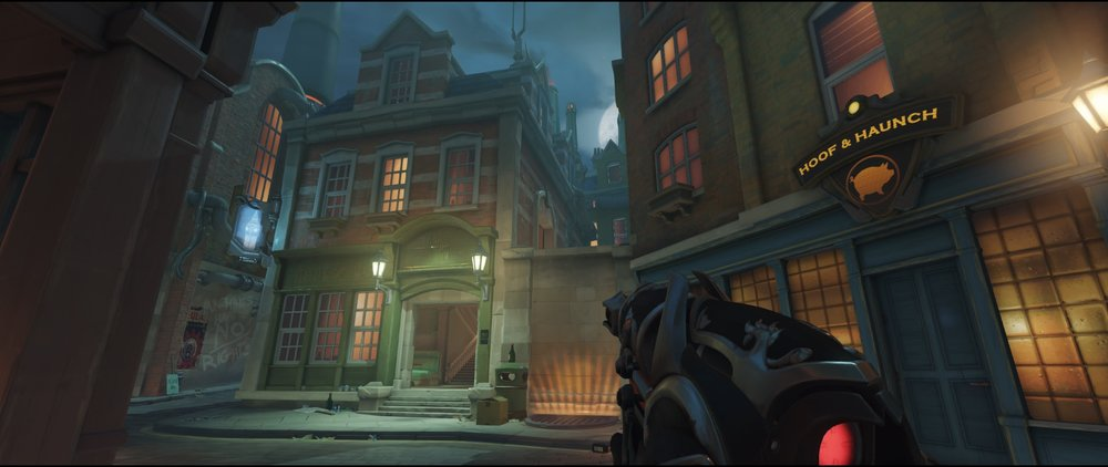 Advanced high ground second point attack Widowmaker Kings Row Overwatch.jpg