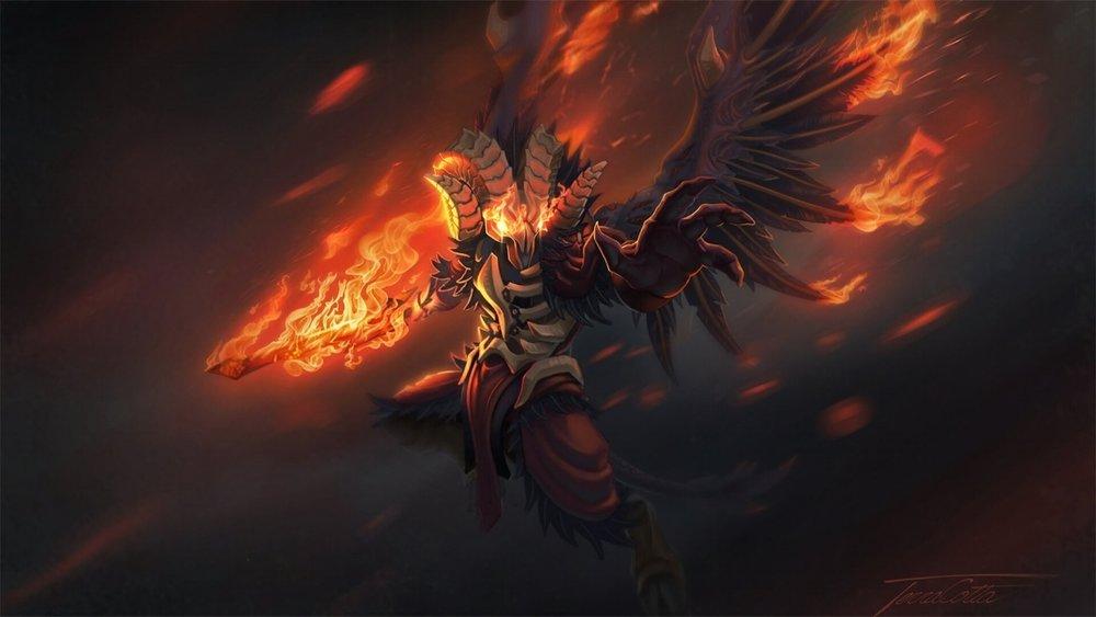 Fires of Vashundol loading screen for Doom - Valve
