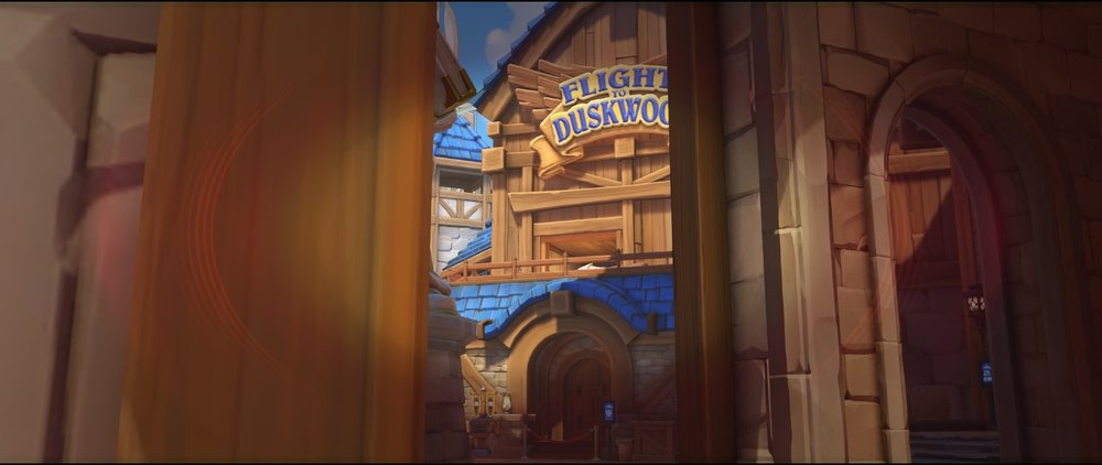 Left side gate view attack sniping spot Widowmaker Blizzard World Overwatch.jpg