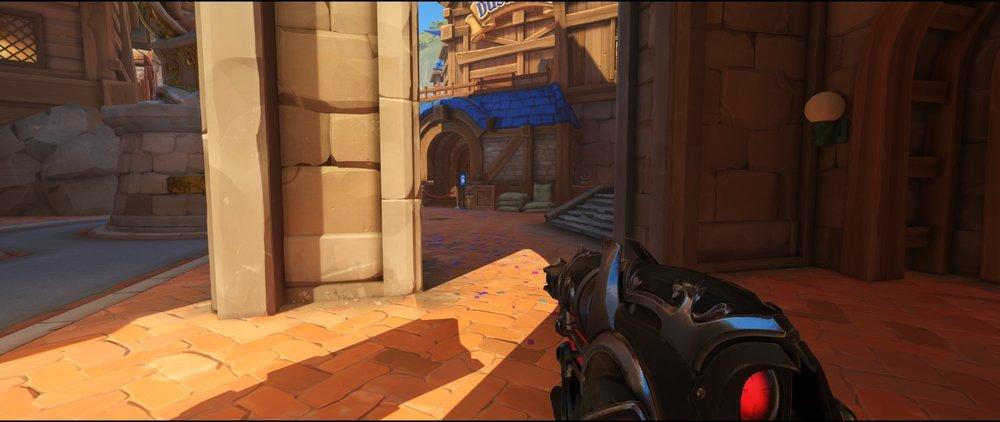 Rioght side entrance attack sniping spot Widowmaker Blizzard World Overwatch.jpg