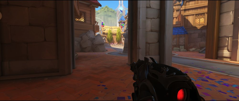 Left side entrance attack sniping spot Widowmaker Blizzard World Overwatch.jpg