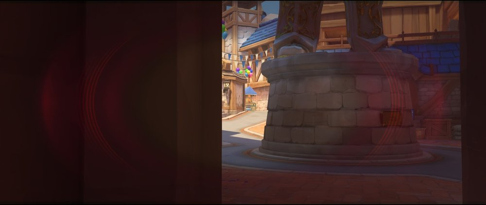 Left side entrance mid view attack sniping spot Widowmaker Blizzard World Overwatch.jpg