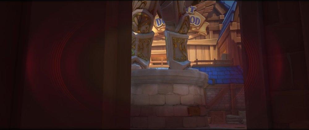 Left side entrance high ground view attack sniping spot Widowmaker Blizzard World Overwatch.jpg