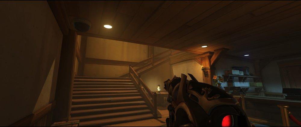 Vikings shop stairs attack sniping spot Widowmaker Blizzard World Overwatch.jpg
