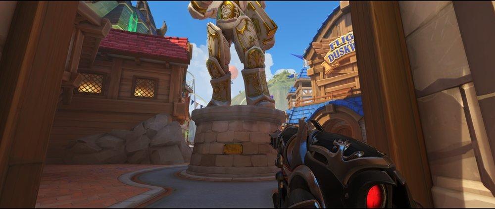 Main statue attack sniping spot Widowmaker Blizzard World Overwatch.jpg