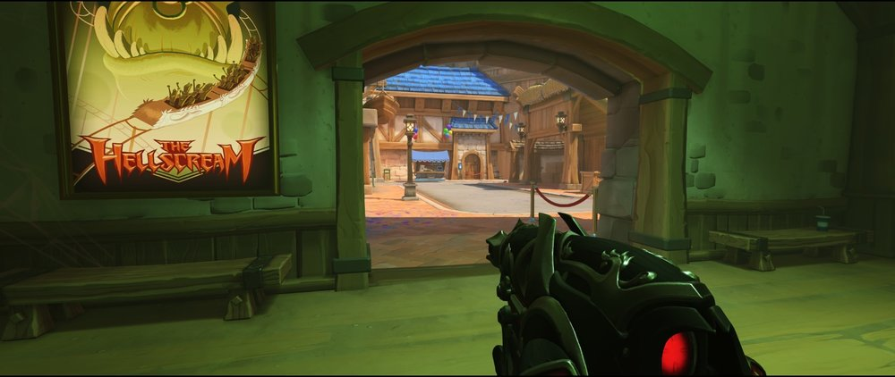 Ground level area two attack sniping spot Widowmaker Blizzard World Overwatch.jpg