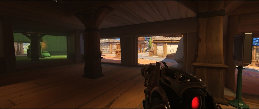 Ground level area one attack sniping spot Widowmaker Blizzard World Overwatch.jpg