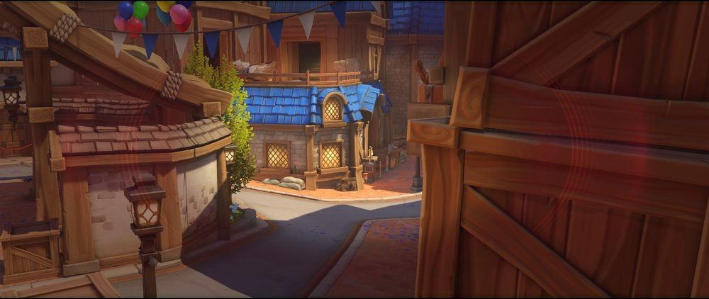 Boxes view to road defense sniping spot Widowmaker Blizzard World Overwatch.jpg