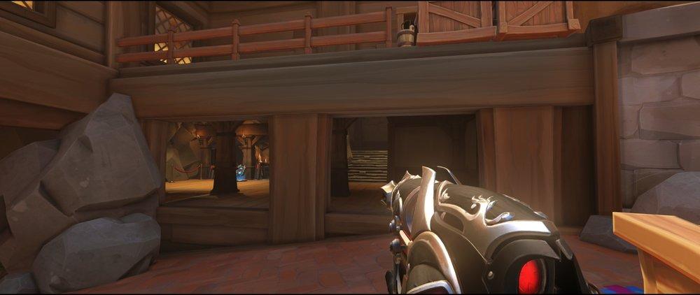 Ground level defense sniping spot Widowmaker Blizzard World Overwatch.jpg