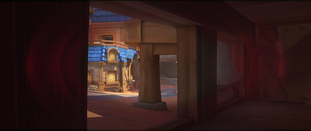 Ground level view defense sniping spot Widowmaker Blizzard World Overwatch.jpg