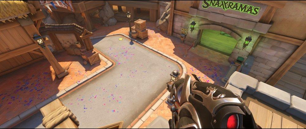 First point area high ground defense sniping spot Widowmaker Blizzard World Overwatch.jpg