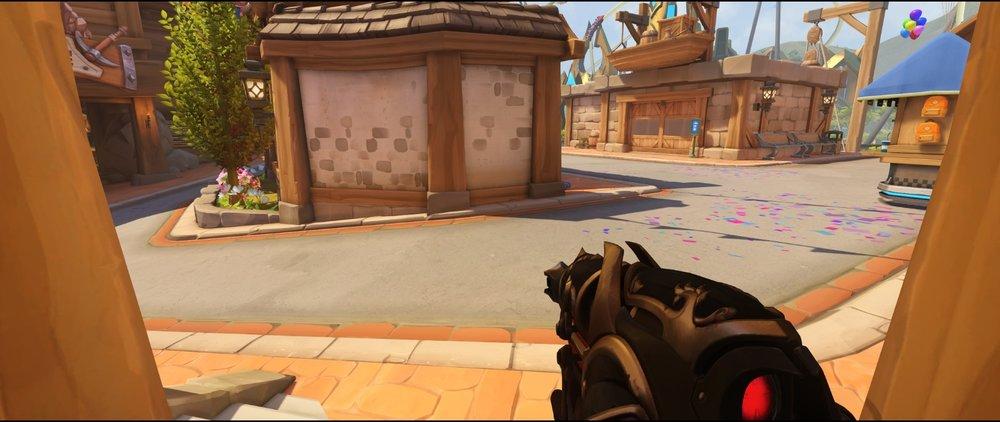 Flank view first point defense sniping spot Widowmaker Blizzard World Overwatch.jpg