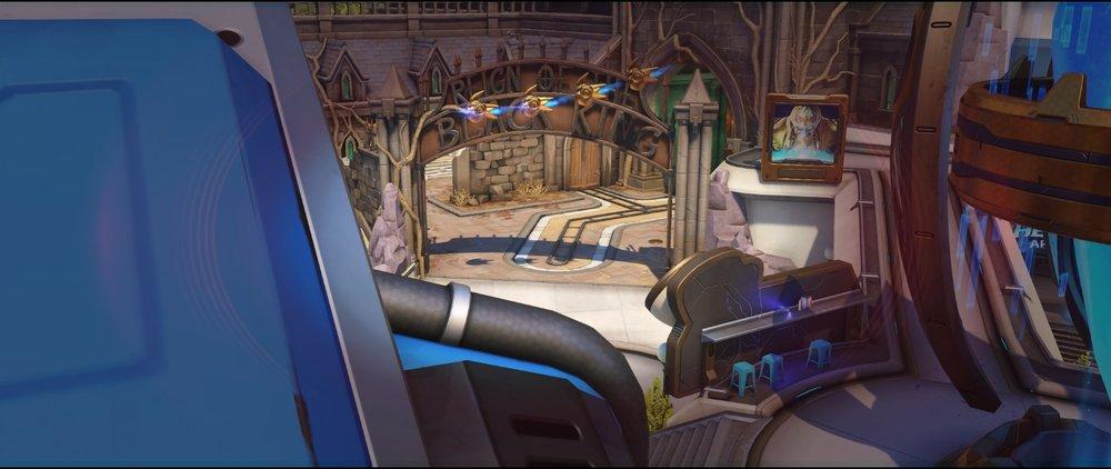 Tank view to enemy spawn attack sniping spot Widowmaker Blizzard World Overwatch.jpg