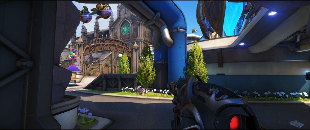 Left side ground level second point attack sniping spot Widowmaker Blizzard World Overwatch.jpg