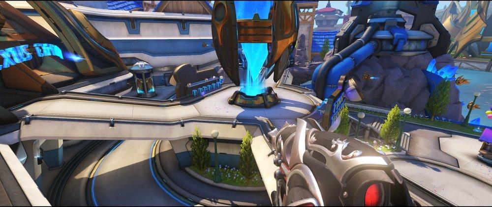High ground arcade view defense sniping spot Widowmaker Blizzard World Overwatch.jpg