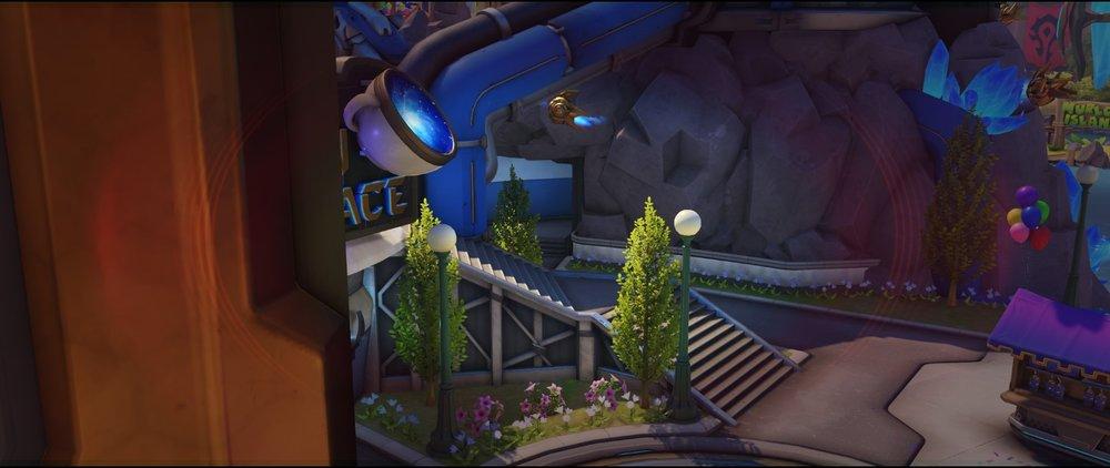 Right view arcade defense sniping spot Widowmaker Blizzard World Overwatch.jpg