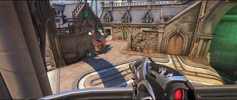 Right from arcade defense sniping spot Widowmaker Blizzard World Overwatch.jpg