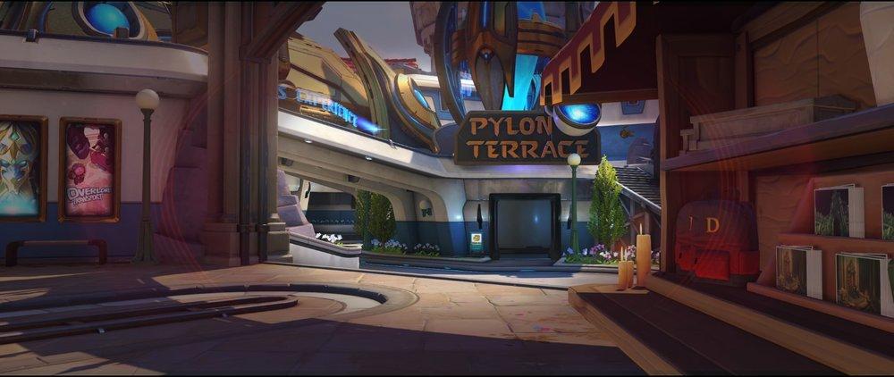 View right from arcade defense sniping spot Widowmaker Blizzard World Overwatch.jpg