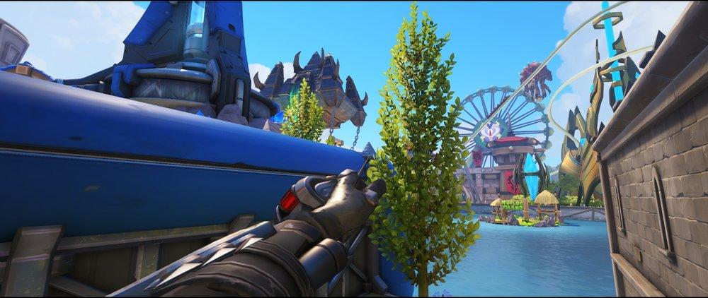 Top blue pipe defense sniping spot Widowmaker Blizzard World Overwatch.jpg