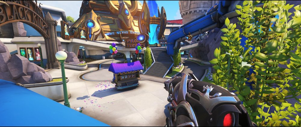 Top blue pipe view defense sniping spot Widowmaker Blizzard World Overwatch.jpg