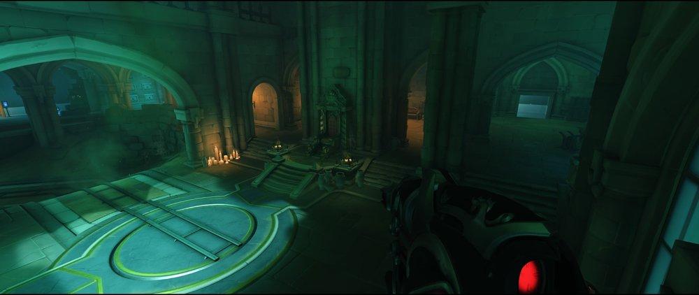 Right side visual third point high ground attack sniping spot Widowmaker Blizzard World Overwatch.jpg