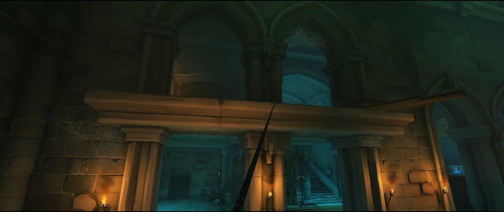 High ground left side third point attack sniping spot Widowmaker Blizzard World Overwatch.jpg