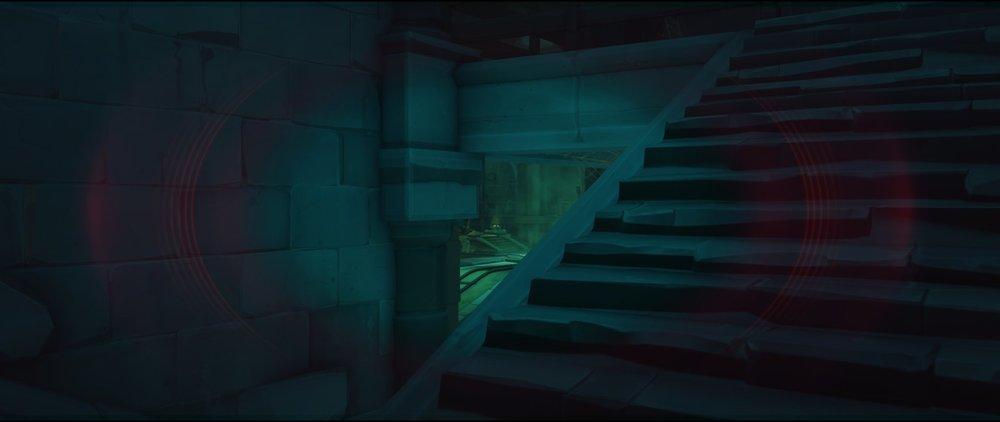 Stairs view left side third point attack sniping spot Widowmaker Blizzard World Overwatch.jpg