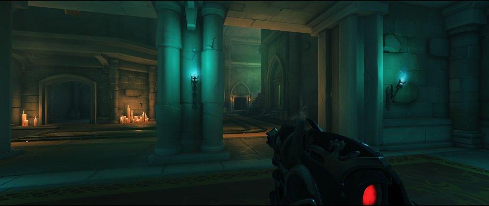 View from ground level third point defense sniping spot Widowmaker Blizzard World Overwatch.jpg