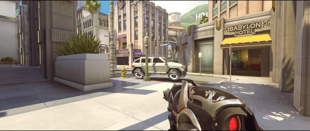 Spawn car offense Widowmaker sniping spots Hollywood Overwatch.jpg