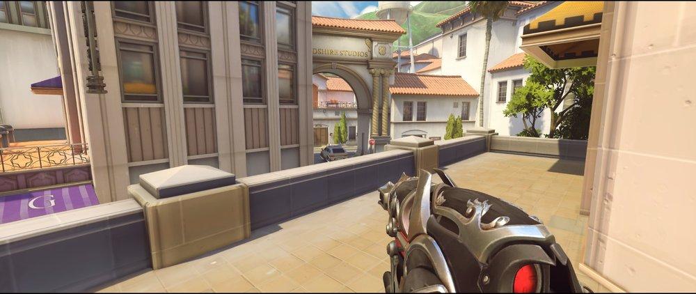 Hotel offense Widowmaker sniping spots Hollywood Overwatch.jpg