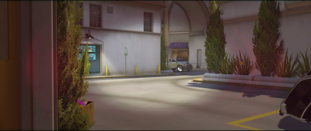 Cafe view ground level defense Widowmaker sniping spots Hollywood Overwatch.jpg