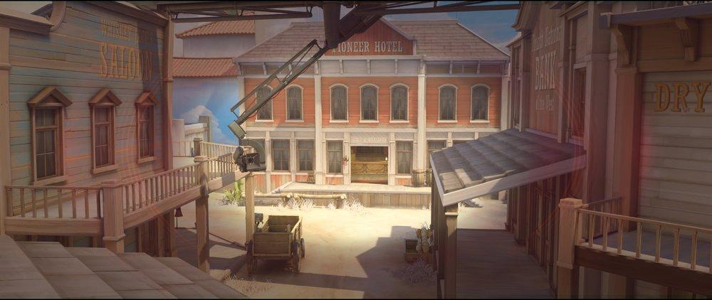 Second roof offense Widowmaker sniping spots Hollywood Overwatch.jpg