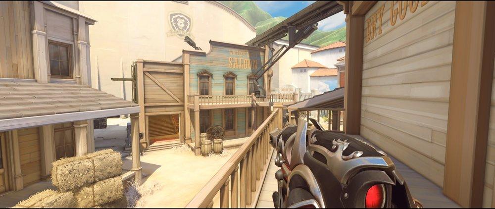 Bank balcony offense Widowmaker sniping spots Hollywood Overwatch.jpg