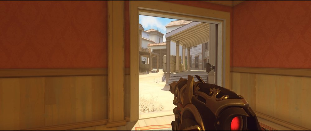 Saloon ground level defense Widowmaker sniping spots Hollywood Overwatch.jpg