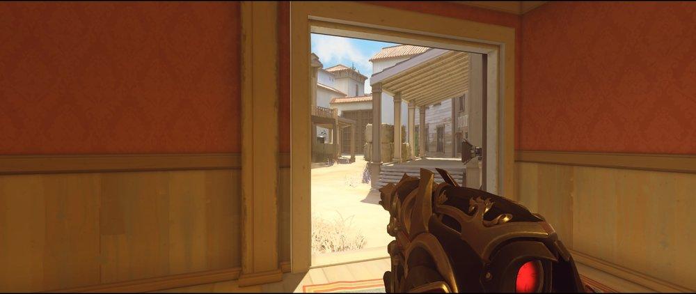 Saloon ground level defense Widowmaker sniping spots Hollywood Overwatch.jpg