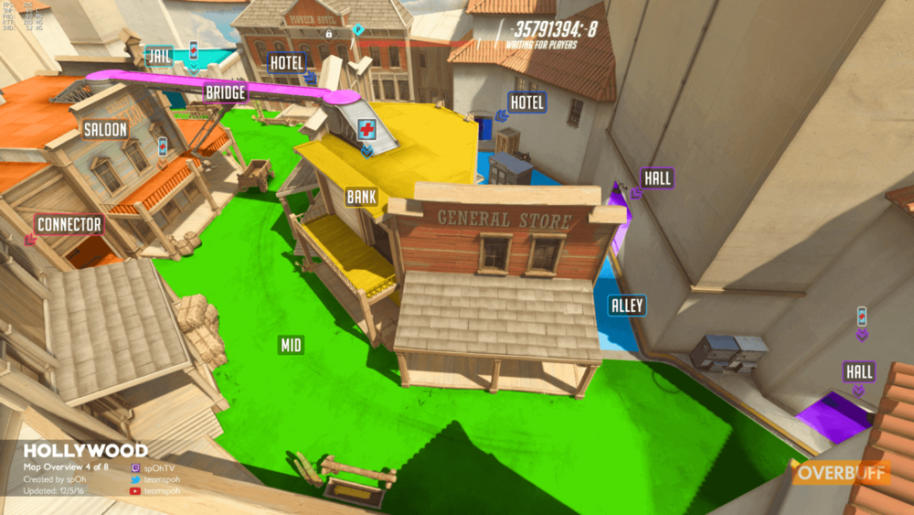 Hollywood second point map callouts Overwatch.png