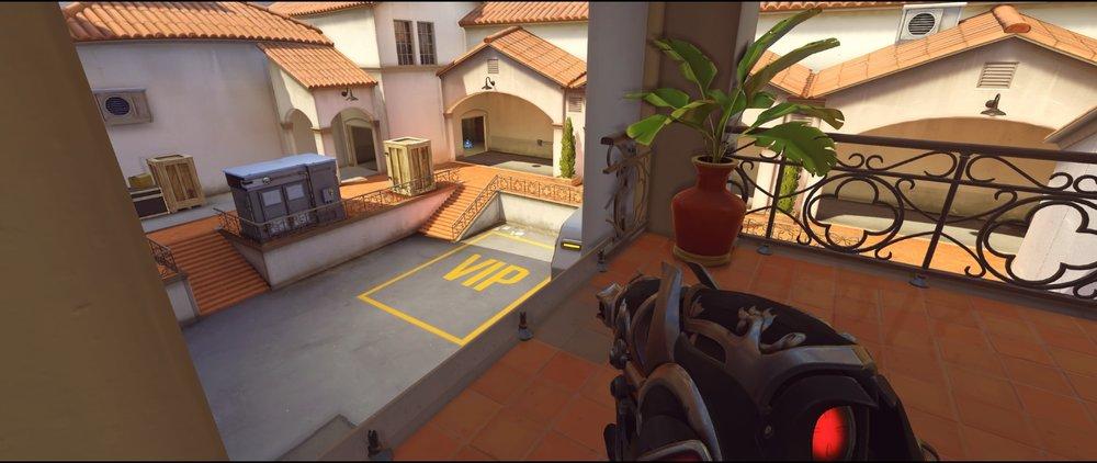 Bridge view attack Widowmaker sniping spot Hollywood Overwatch.jpg