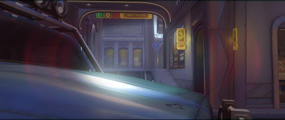 Blue car right defense Widowmaker sniping spot Numbani Overwatch.jpg