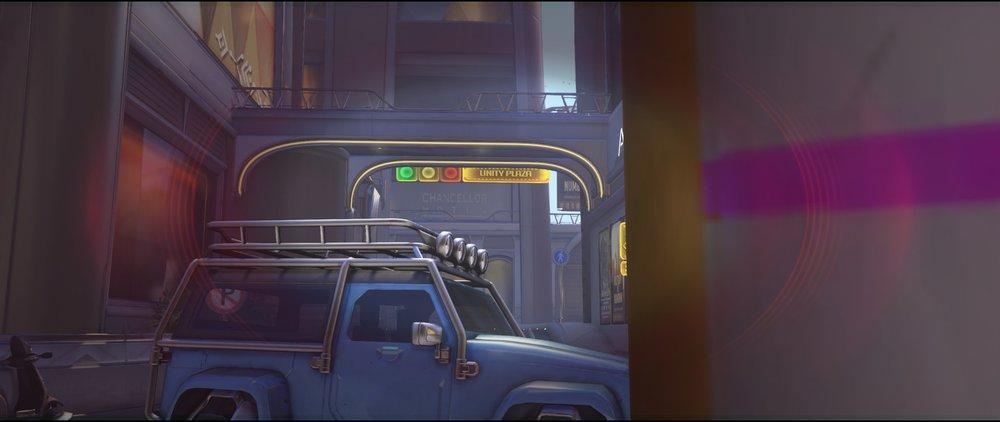 Blue car far defense Widowmaker sniping spot Numbani Overwatch.jpg