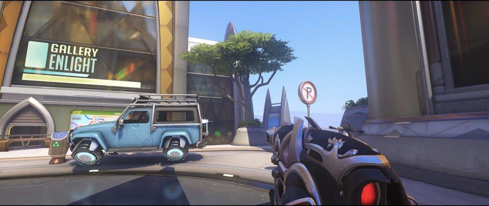 Blue car tree defense Widowmaker sniping spot Numbani Overwatch.jpg