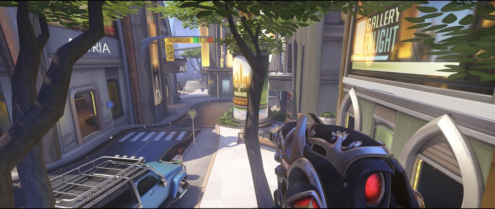 Tree blue car attack Widowmaker sniping spot Numbani Overwatch.jpg