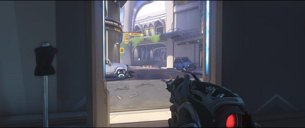 Ground level room attack Widowmaker sniping spot Numbani Overwatch.jpg