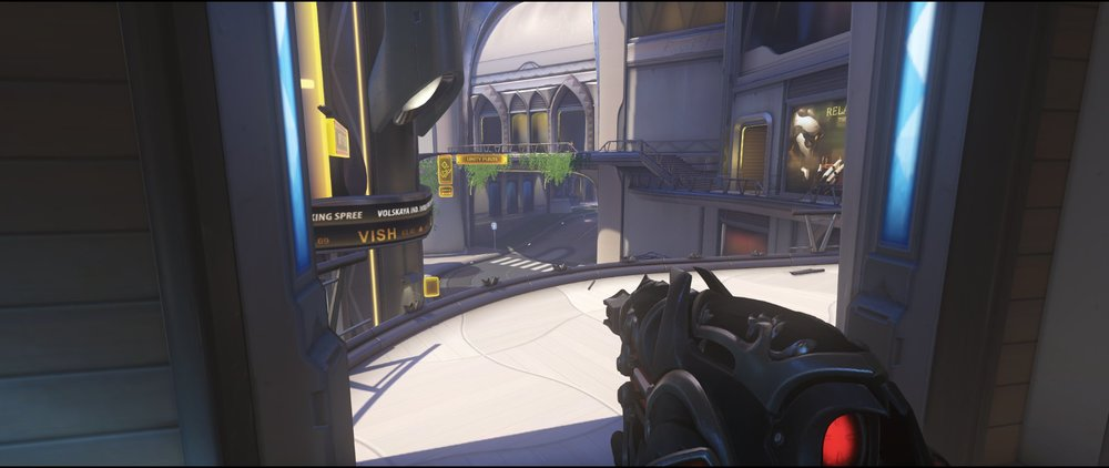 High ground room attack Widowmaker sniping spot Numbani Overwatch.jpg