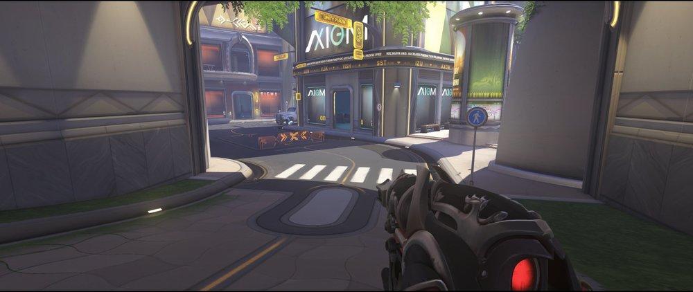 Choke view second point defense Widowmaker sniping spot Numbani Overwatch.jpg